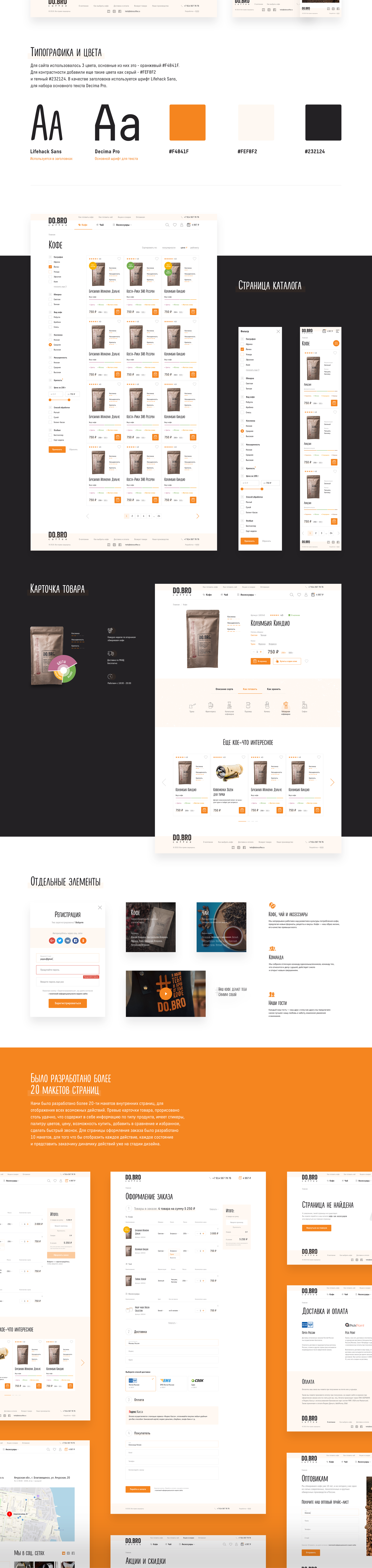 "Адаптивная интернет-магазина ""DO.BRO.COFFE"""