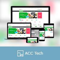 """Адаптивная верстка сайта """"Acctech"""""""