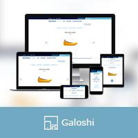 """Адаптивная верстка интернет магазина """"GALOSHI"""""""