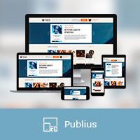 """Адаптивная верстка сайта """"Publius"""""""