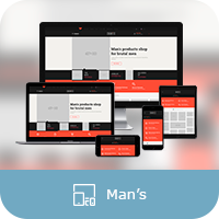 "Адаптивная верстка для ThemeForest.net проект ""Man's"""