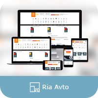 "Адаптивная верстка сайта ""RIA AVTO"""