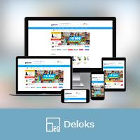 """Адаптивная верстка интернет магазина """"Deloks"""""""