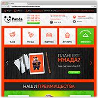 "Адаптивная верстка сайта онлайн ресторана ""Panda"""