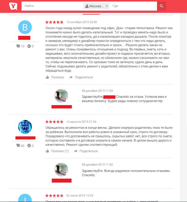 Управление репутацией ремонтно-строительной компании в интернете