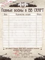 Таблица для конкурса BB CRAFT