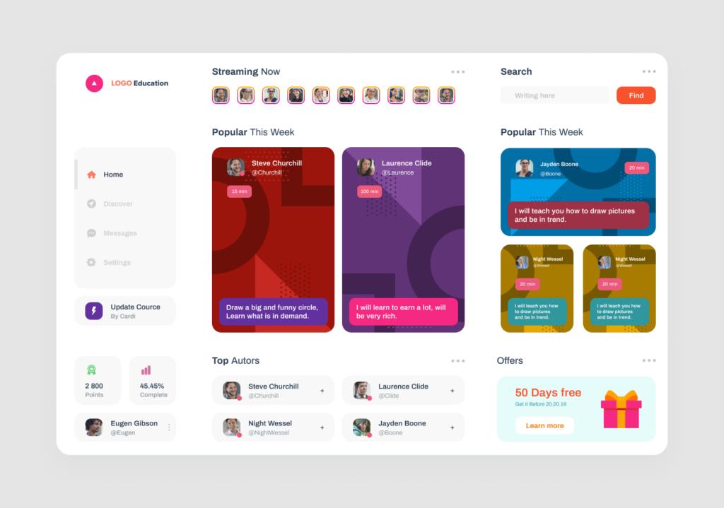 Education APP - UI kit