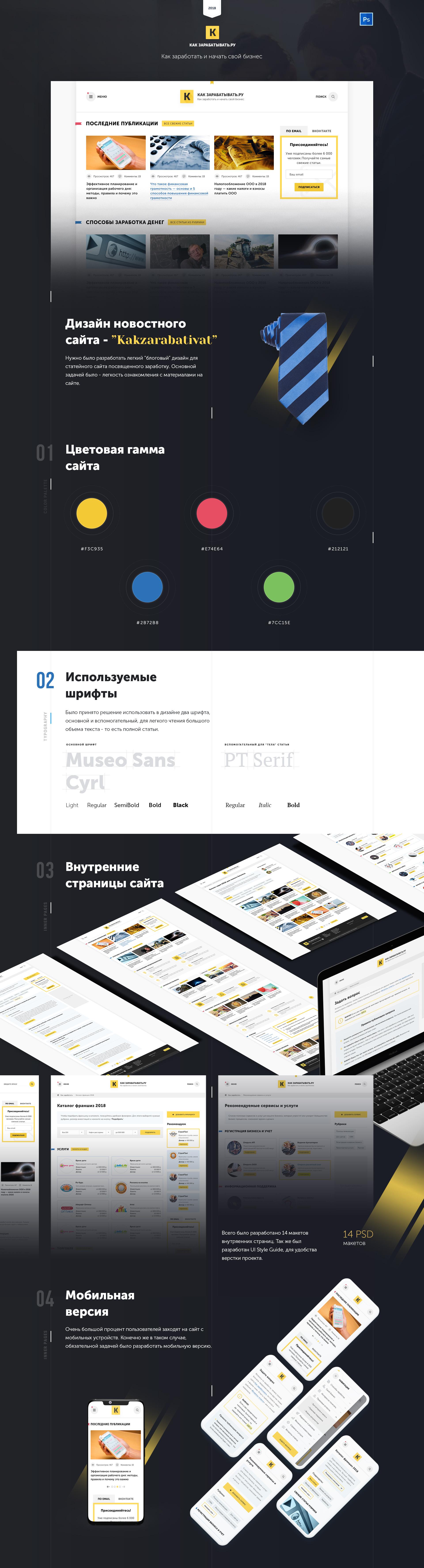 Дизайн информационного сайта бизнес тематики