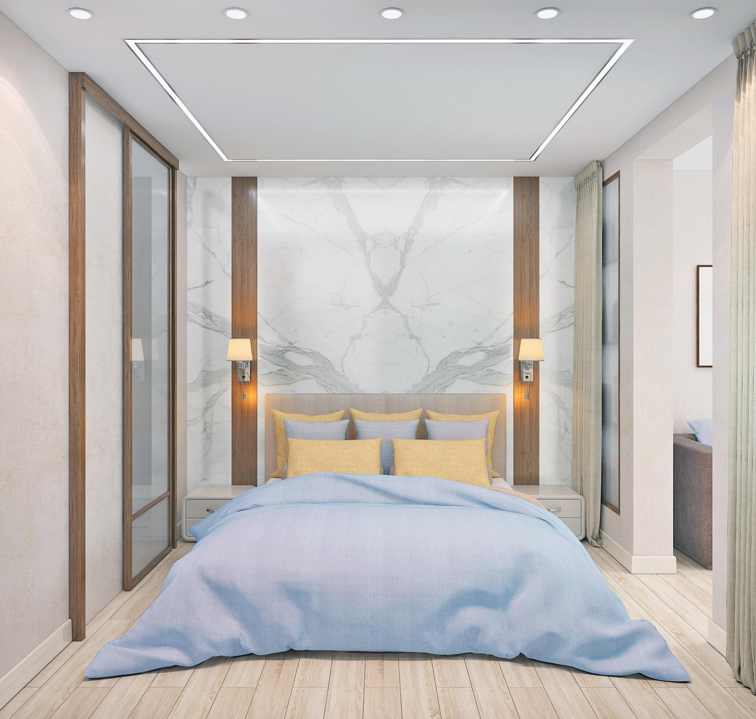 Спальня в однокомнатной квартире. п Коммунарка.