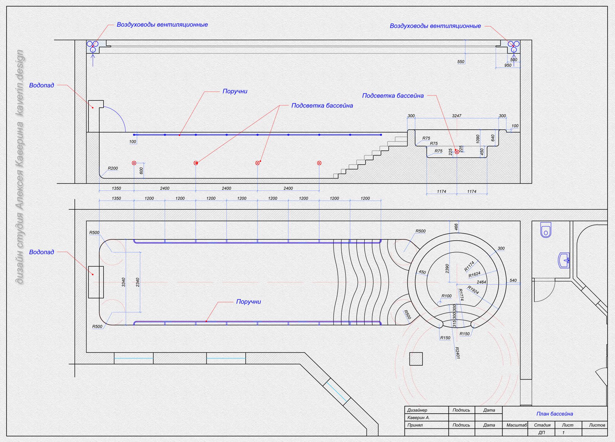 Планировка бассейна в частном доме в г. Грозный