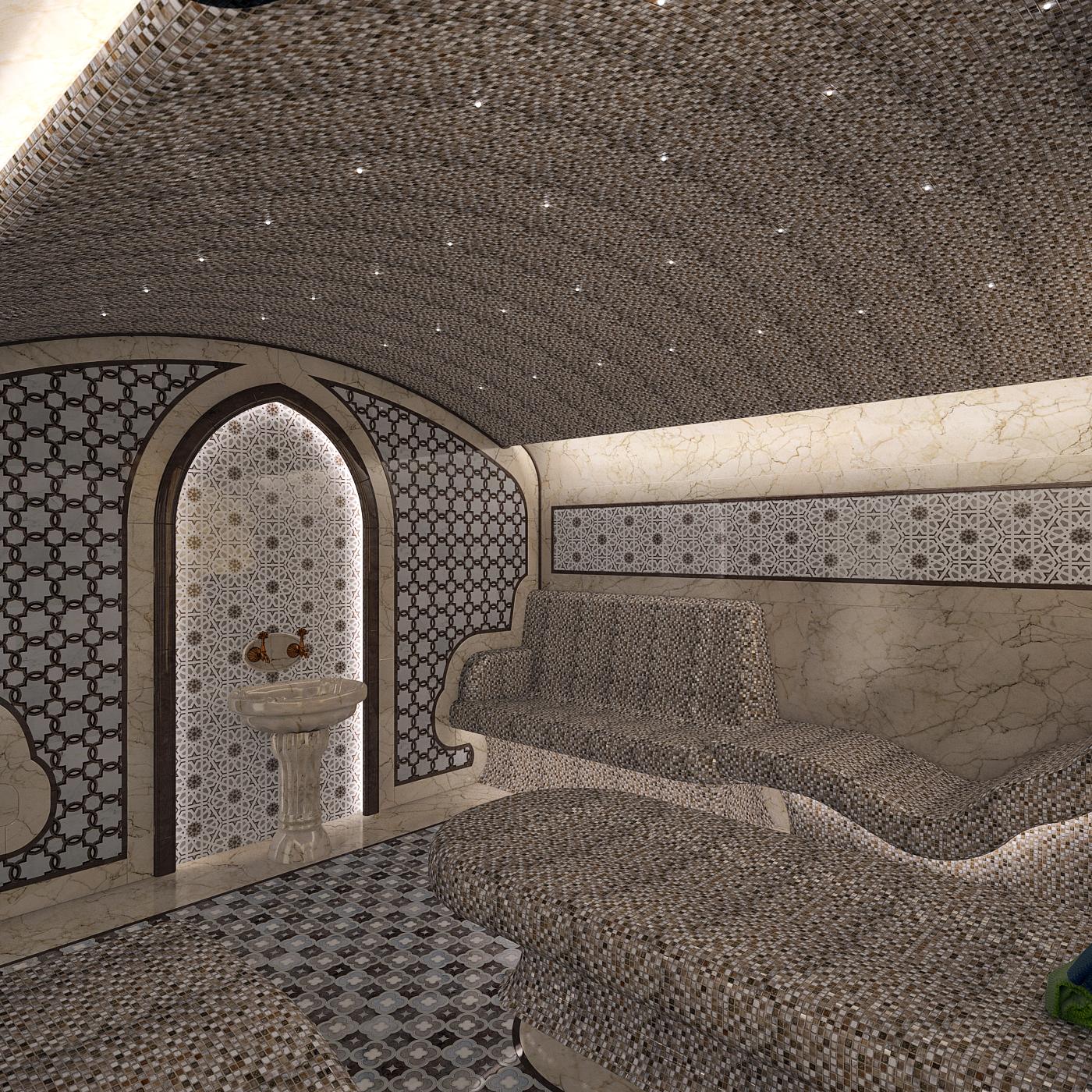 Хамам в цокольном этаже