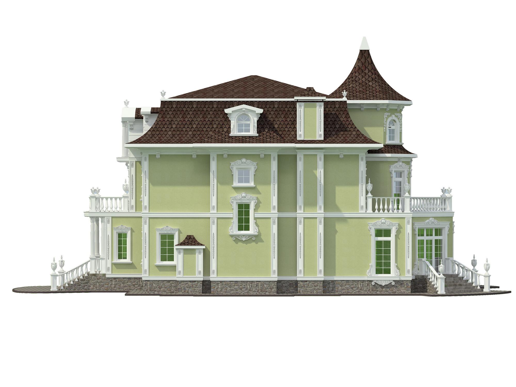 Эскизы фасада загородного дома в классическом стиле