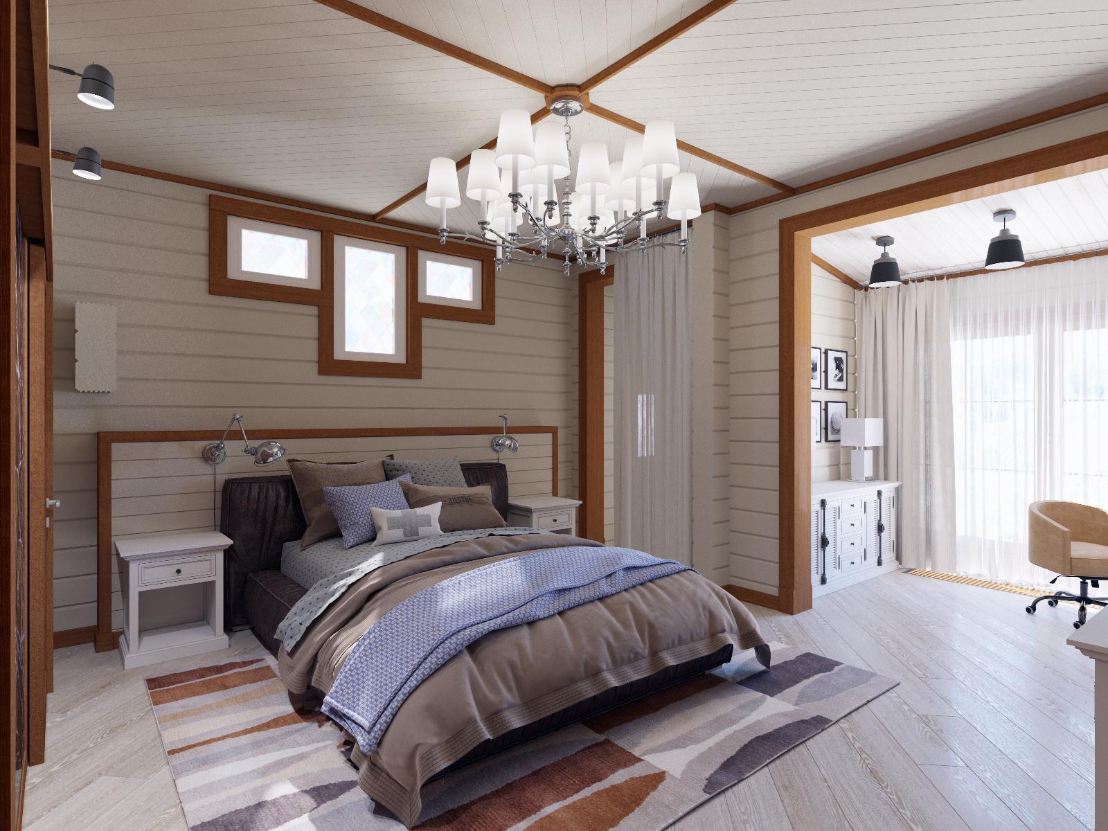 Хозяйская спальня. Цветовые решения