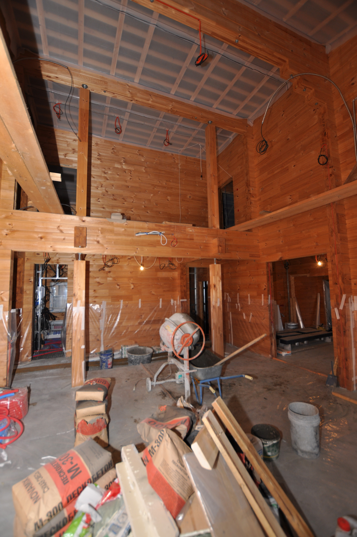 Дом из клееного бруса. В процессе реализации.