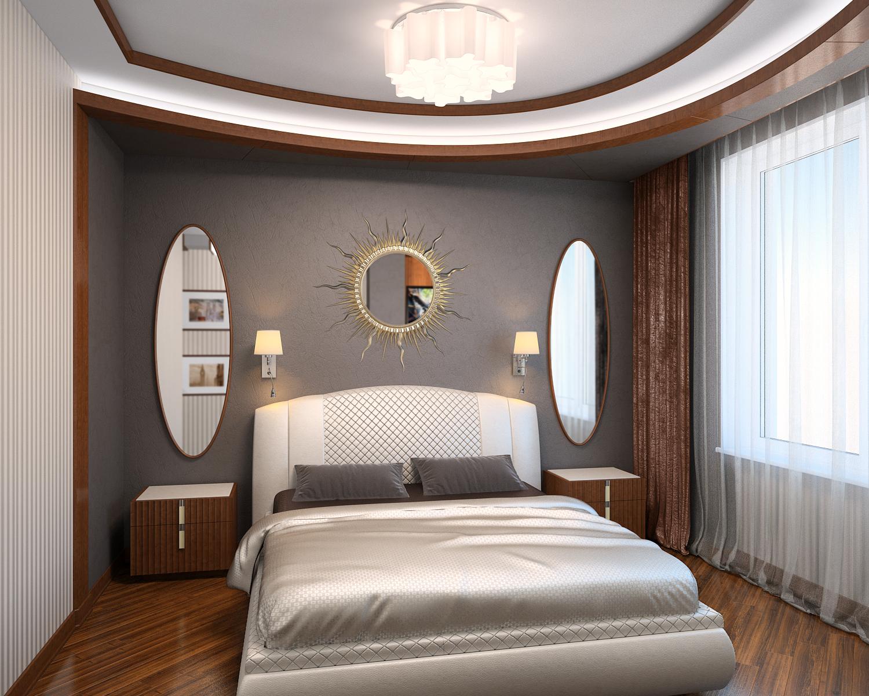 Решение спальни в современном стиле 2