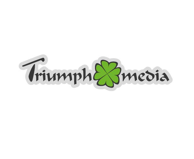 Разработка логотипа  TRIUMPH MEDIA с изображением клевера фото f_5070cc4175970.jpg