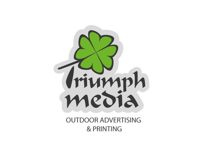 Разработка логотипа  TRIUMPH MEDIA с изображением клевера фото f_5070cc4487343.jpg