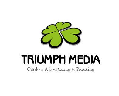 Разработка логотипа  TRIUMPH MEDIA с изображением клевера фото f_5072bee84fa9b.jpg