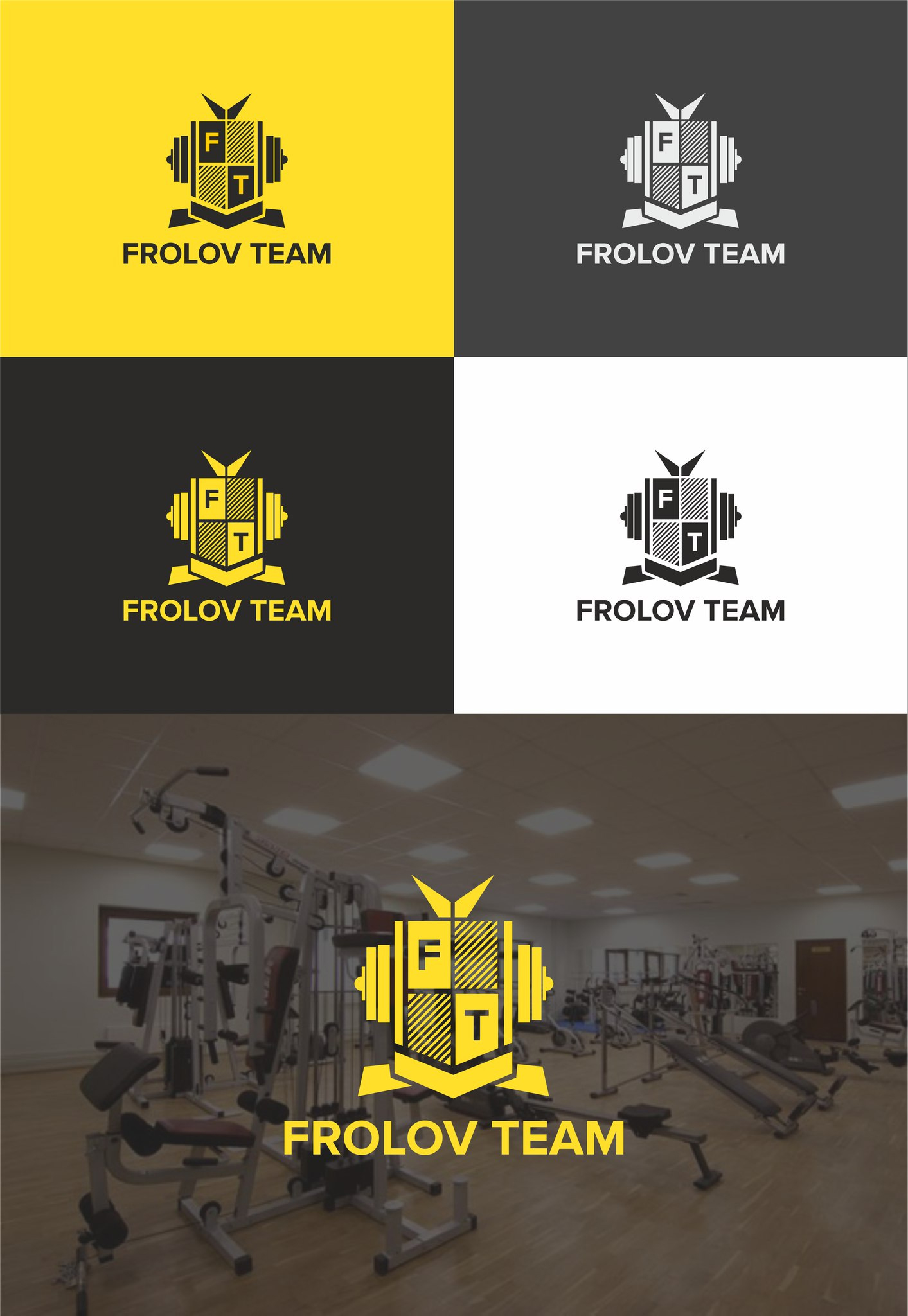 Логотип и фирменный стиль FROLOV TEAM