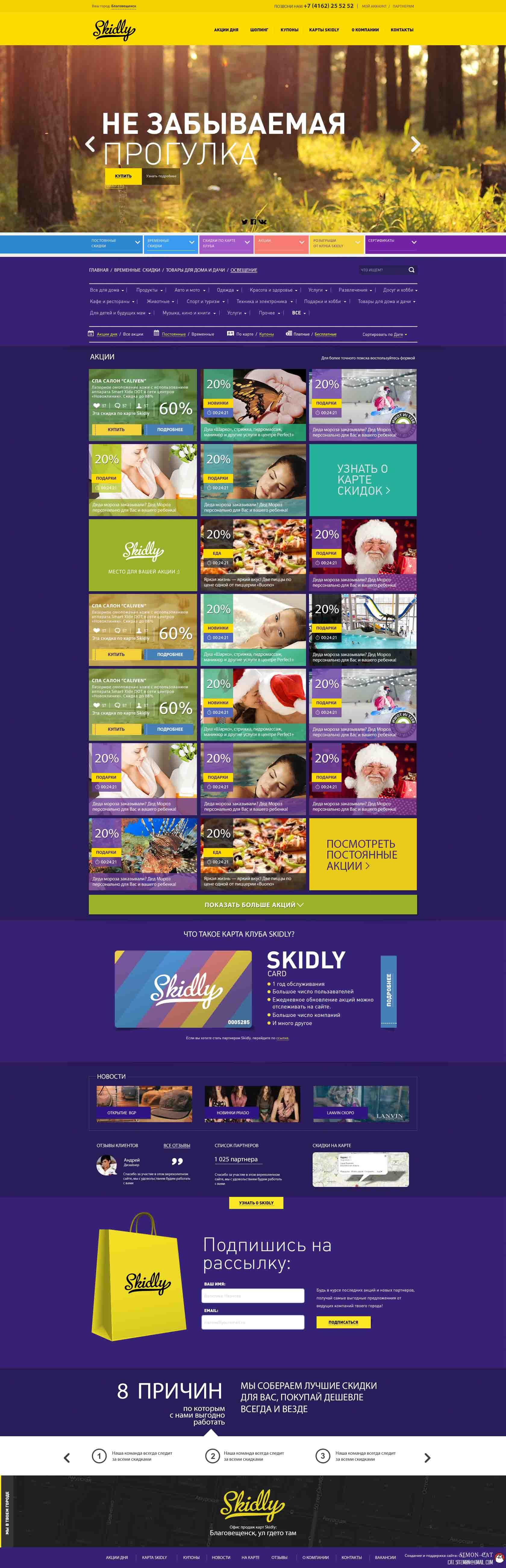 Разработка сайта Skidly