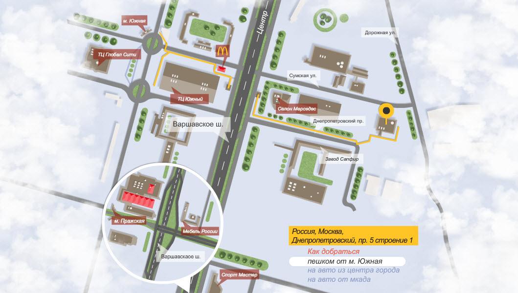 Интерактивная карта проезда (html5)