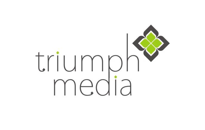Разработка логотипа  TRIUMPH MEDIA с изображением клевера фото f_506eef9391c59.jpg