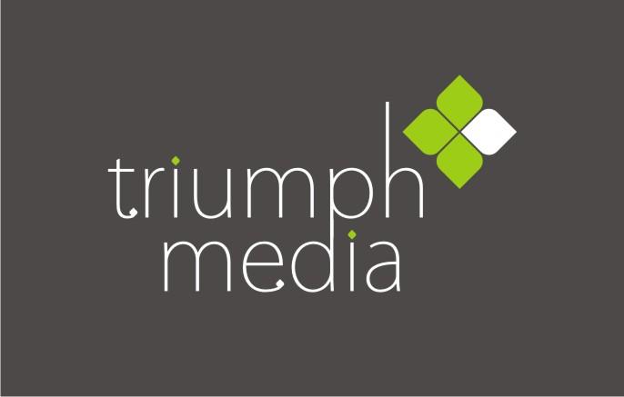 Разработка логотипа  TRIUMPH MEDIA с изображением клевера фото f_506ef07912974.jpg