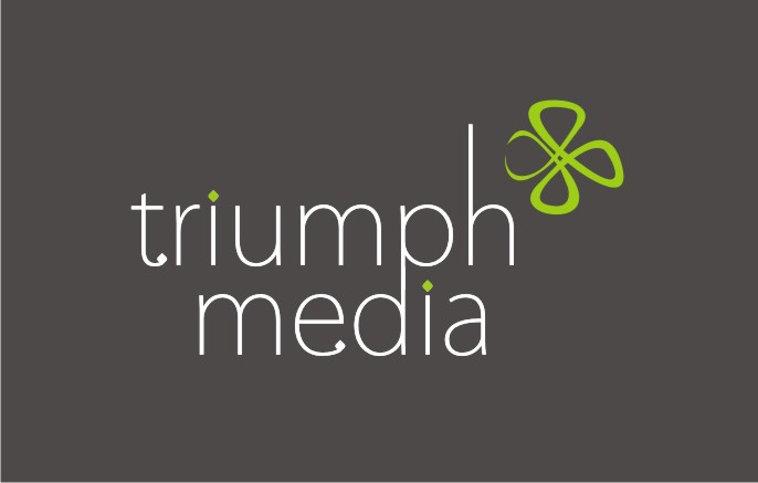 Разработка логотипа  TRIUMPH MEDIA с изображением клевера фото f_506f09ead0cb6.jpg