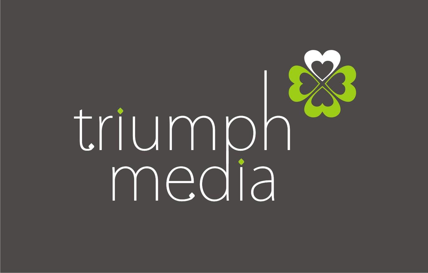 Разработка логотипа  TRIUMPH MEDIA с изображением клевера фото f_506f23646e8ca.jpg