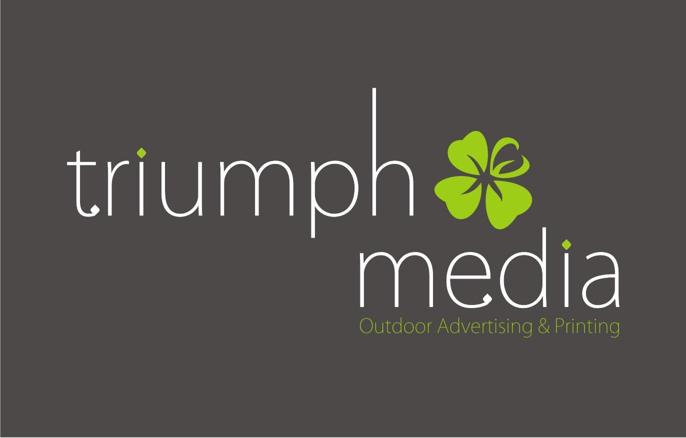 Разработка логотипа  TRIUMPH MEDIA с изображением клевера фото f_5070538bad157.jpg