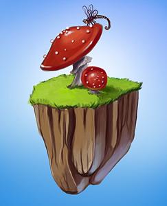 Островок с грибами