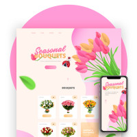 "Дизайн для сайта ""Seasonal Bouquets"""