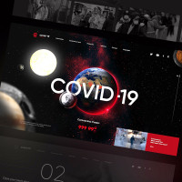 Дизайн сайта COVID-19