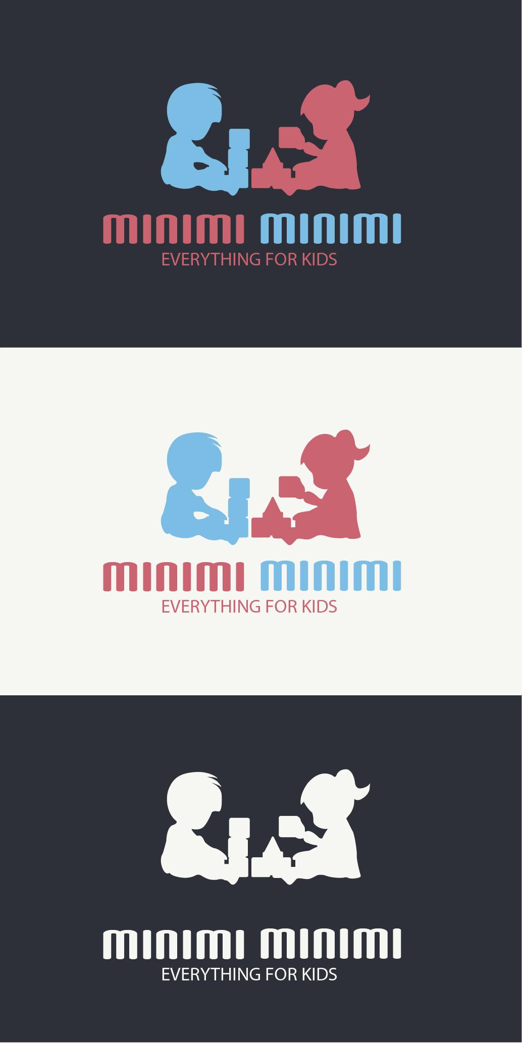 Цель: Разработать логотип детской дизайнерской одежды Мinimi фото f_6595b26c35366f02.jpg