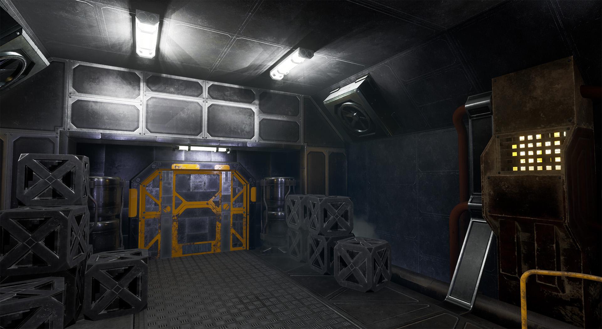SpaceShip game (Unreal Engine 4, VR)