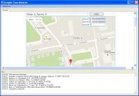 Программа для сбора координат места по адресу