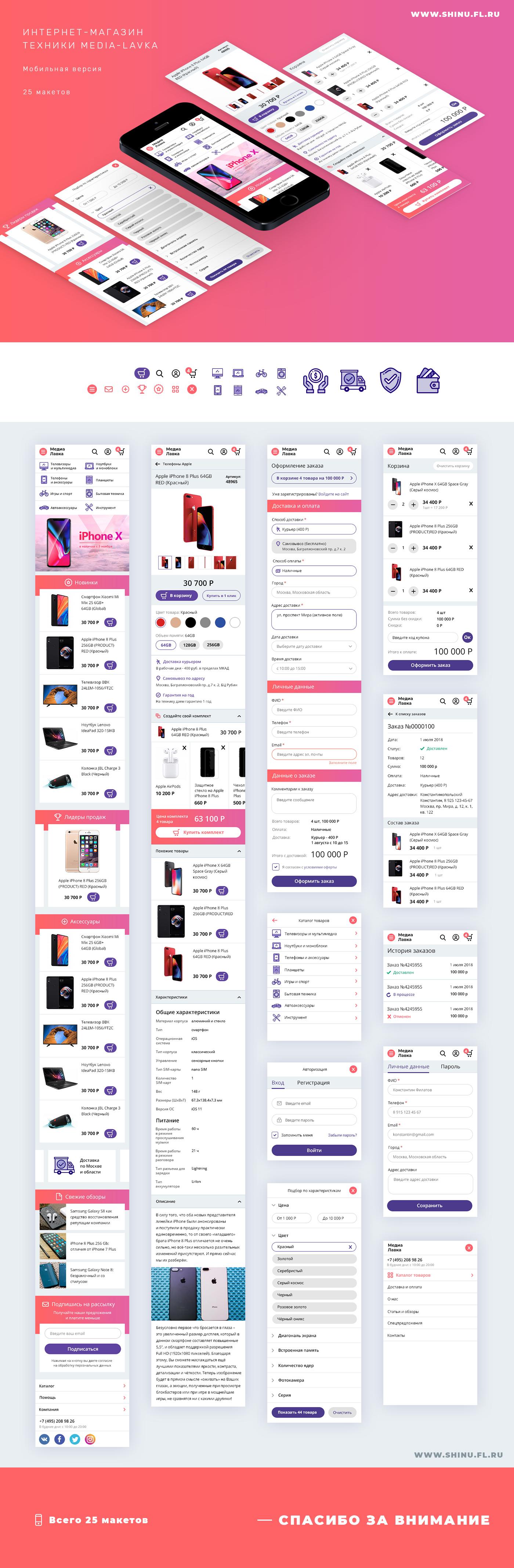 Мобильная версия интернет-магазина техники