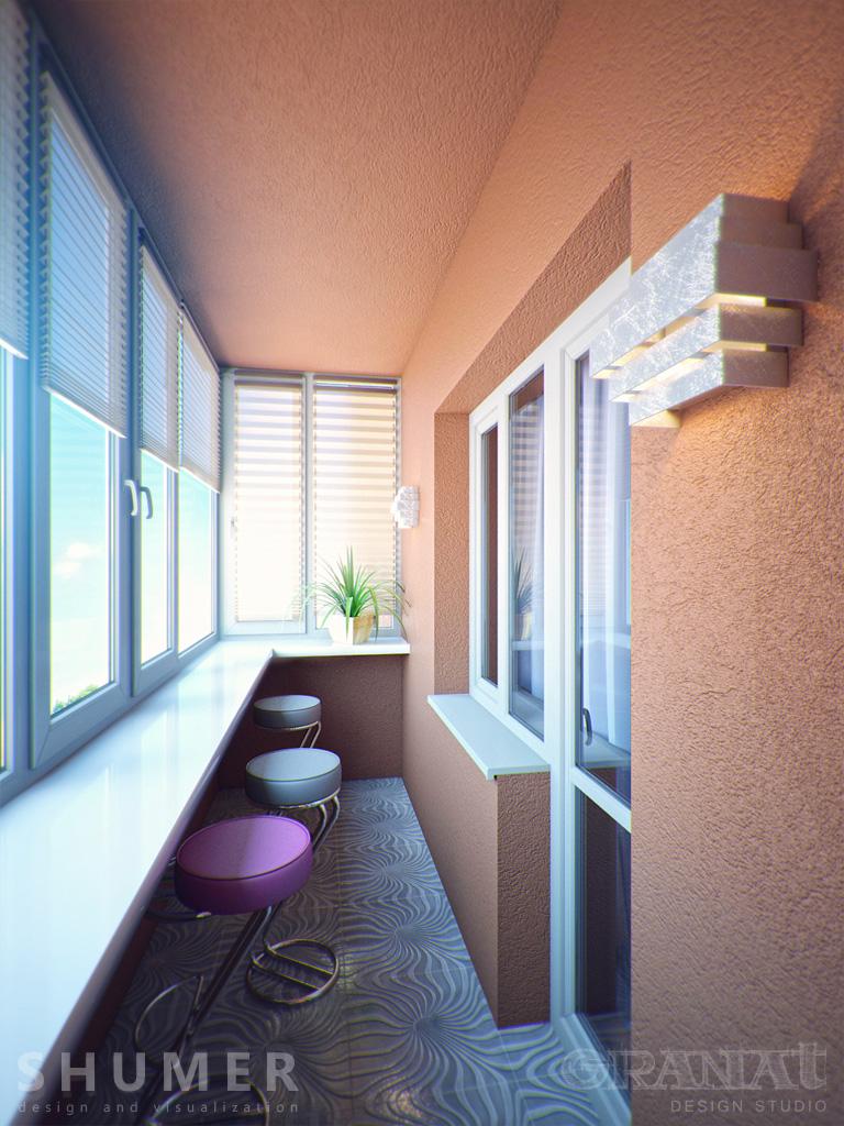 Квартира футболиста. Балкон из зала