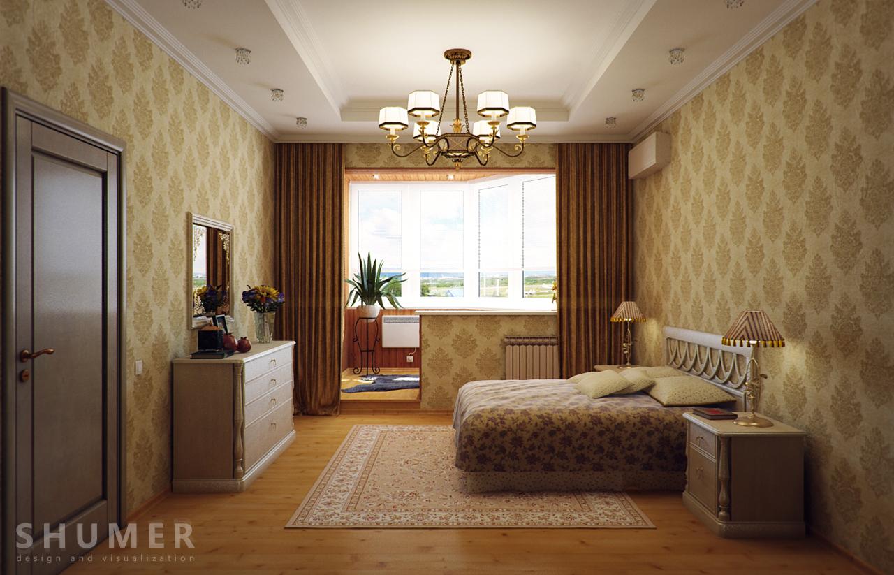 Дизайн балкона и комнаты. В2. Общий