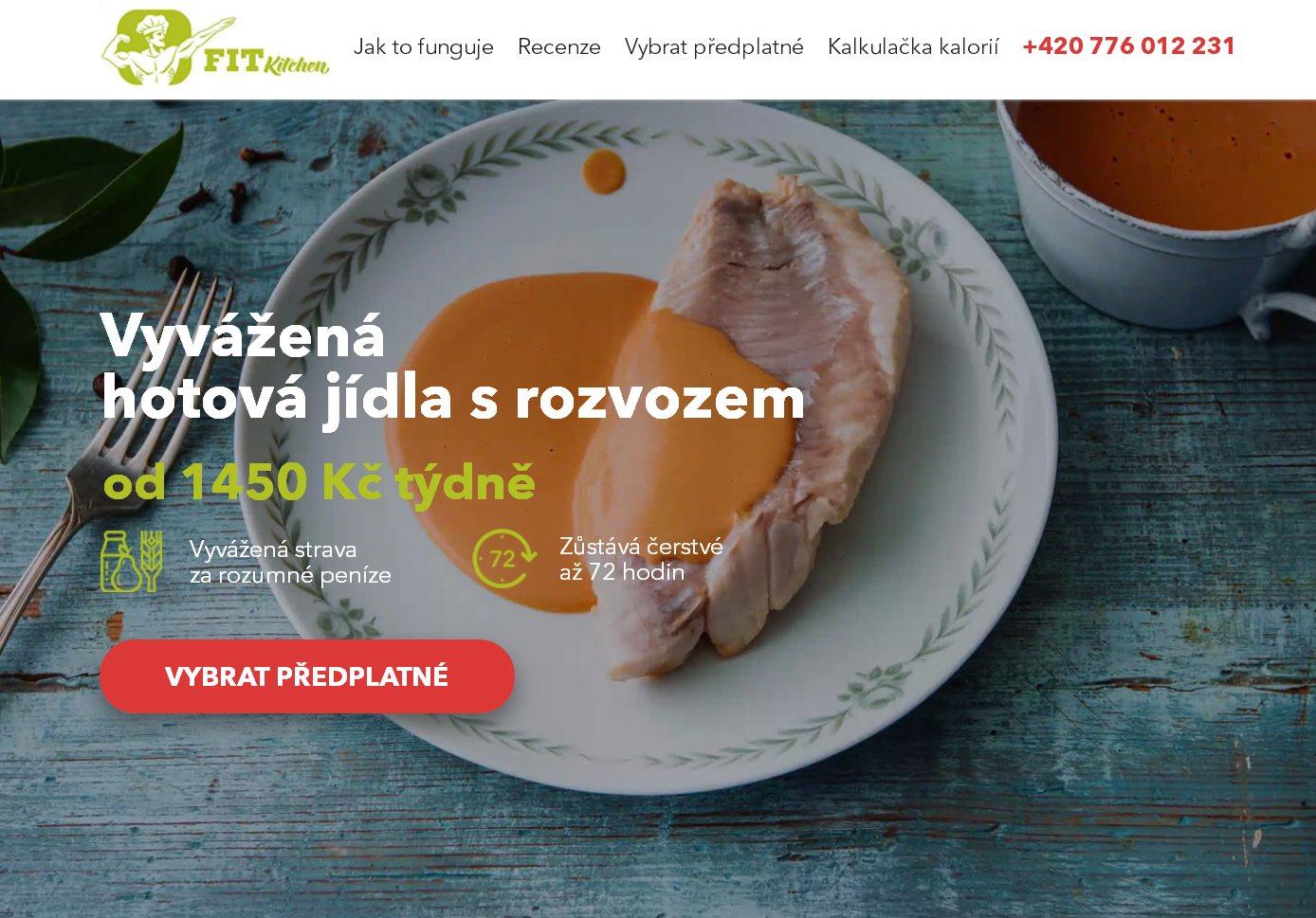 FitKitcen (landing, Wordpress)