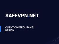 SafeVPN — Дизайн панели управления VPN-аккаунтом