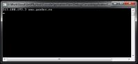 Консольное приложение для получение IP через указание домена