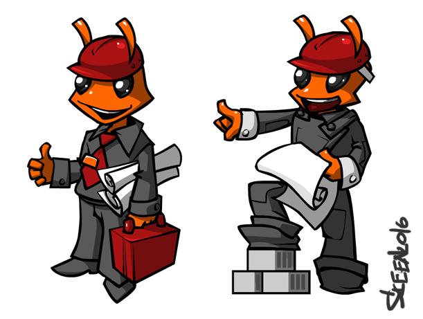 "Необходимо разработать дизайн персонажа ""Муравей"" для сайта  фото f_18757820c5938e8b.jpg"