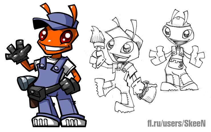 "Необходимо разработать дизайн персонажа ""Муравей"" для сайта  фото f_3475778b2e54c793.jpg"