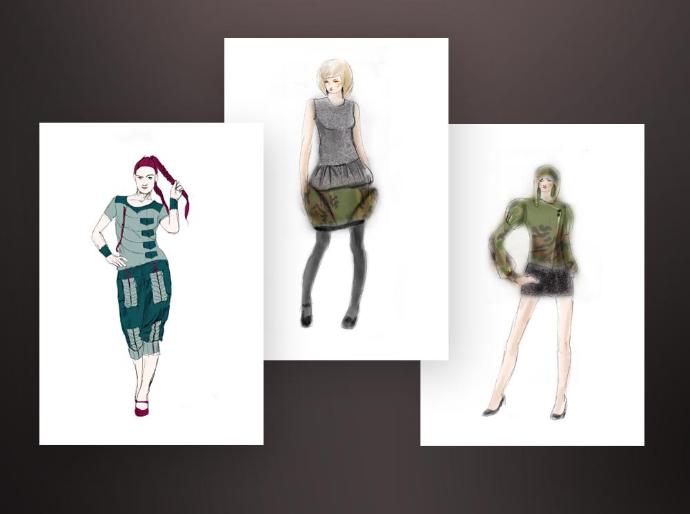 Описание: Эскизы одежды 2012.  Женский портал emWoman.