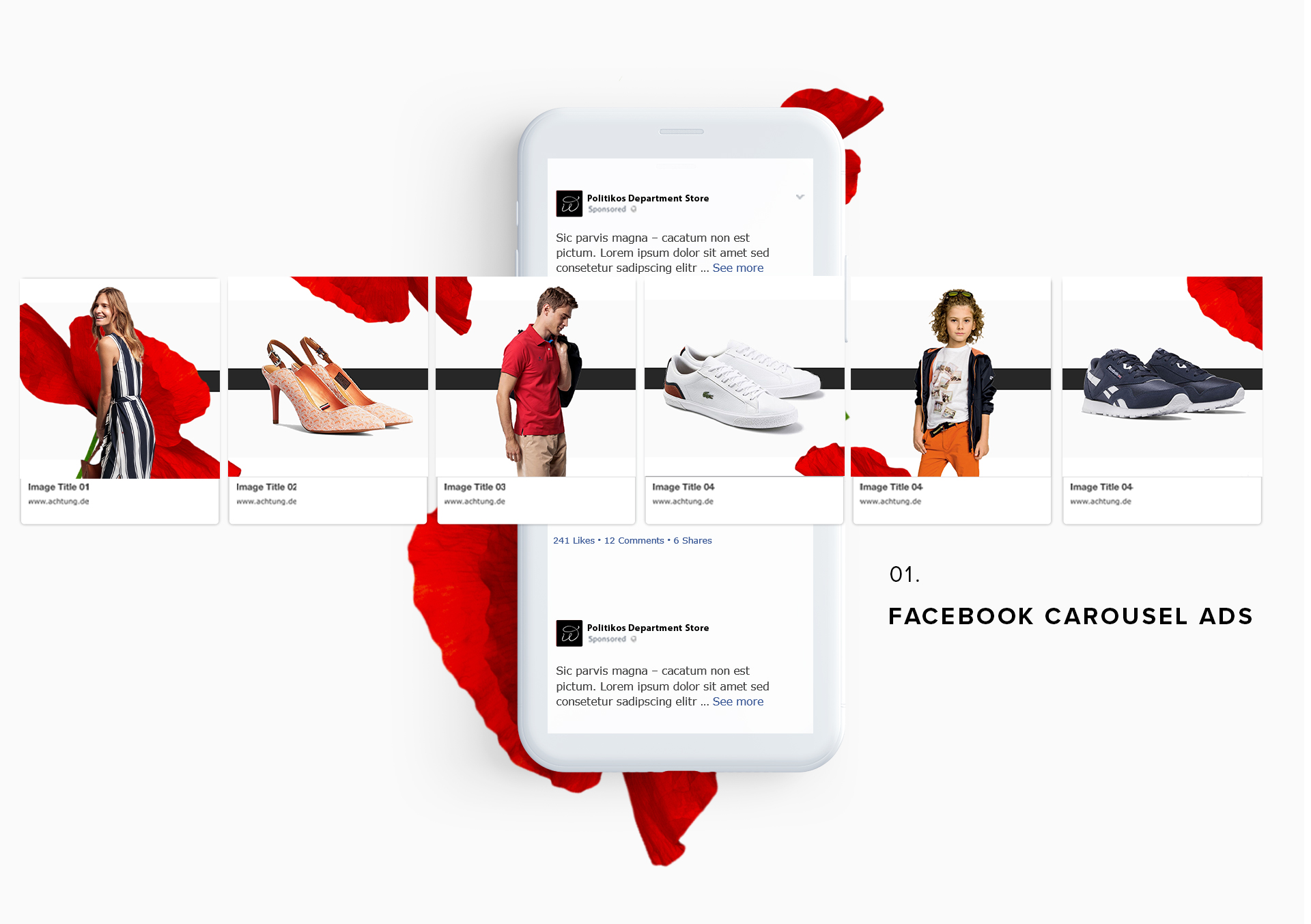 FB CAROUSELS ADS DESIGN (3 projects in 1 case)