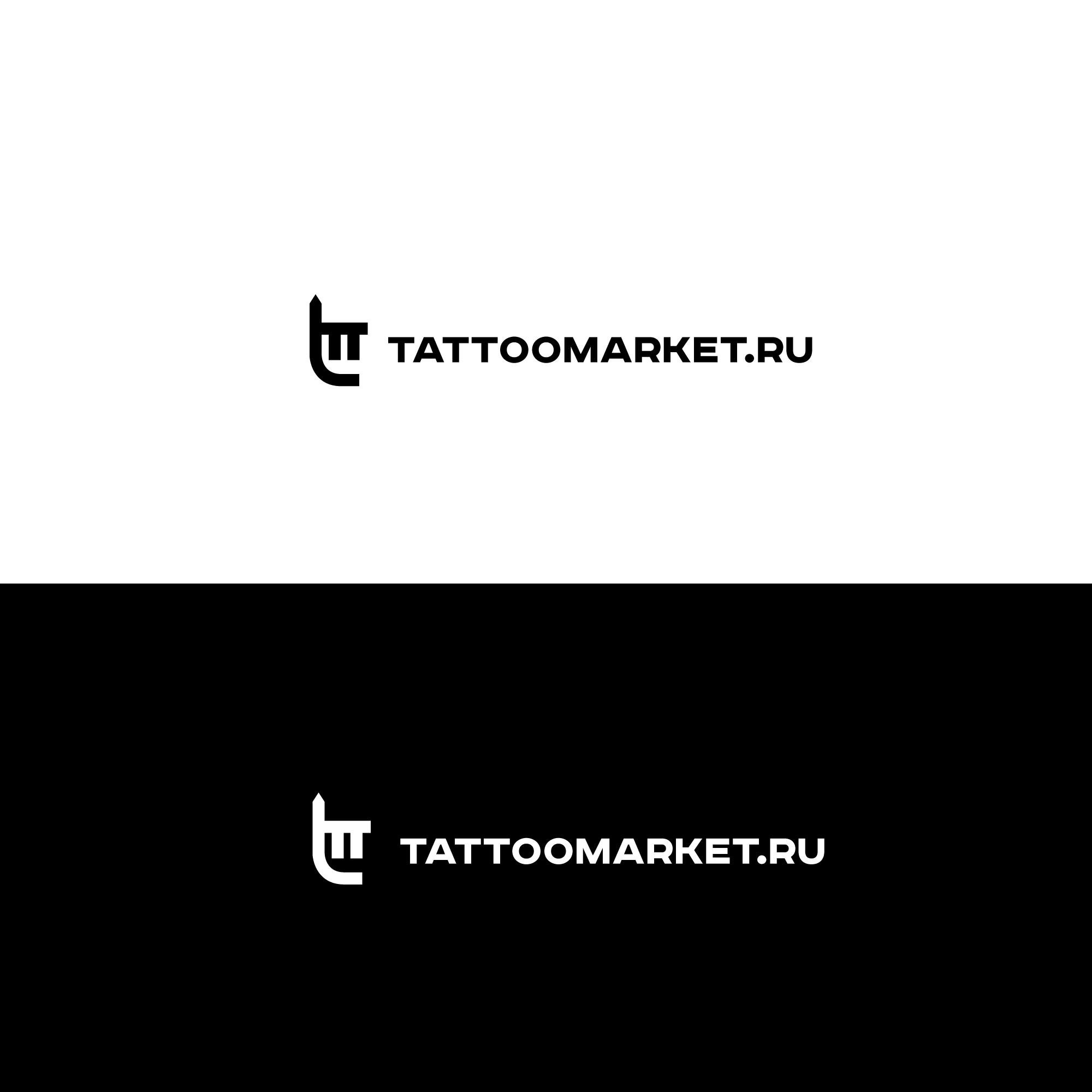 Редизайн логотипа магазина тату оборудования TattooMarket.ru фото f_2595c401eb9685d2.jpg
