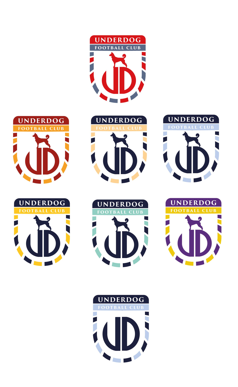 Футбольный клуб UNDERDOG - разработать фирстиль и бренд-бук фото f_5855cb46380e05ef.jpg