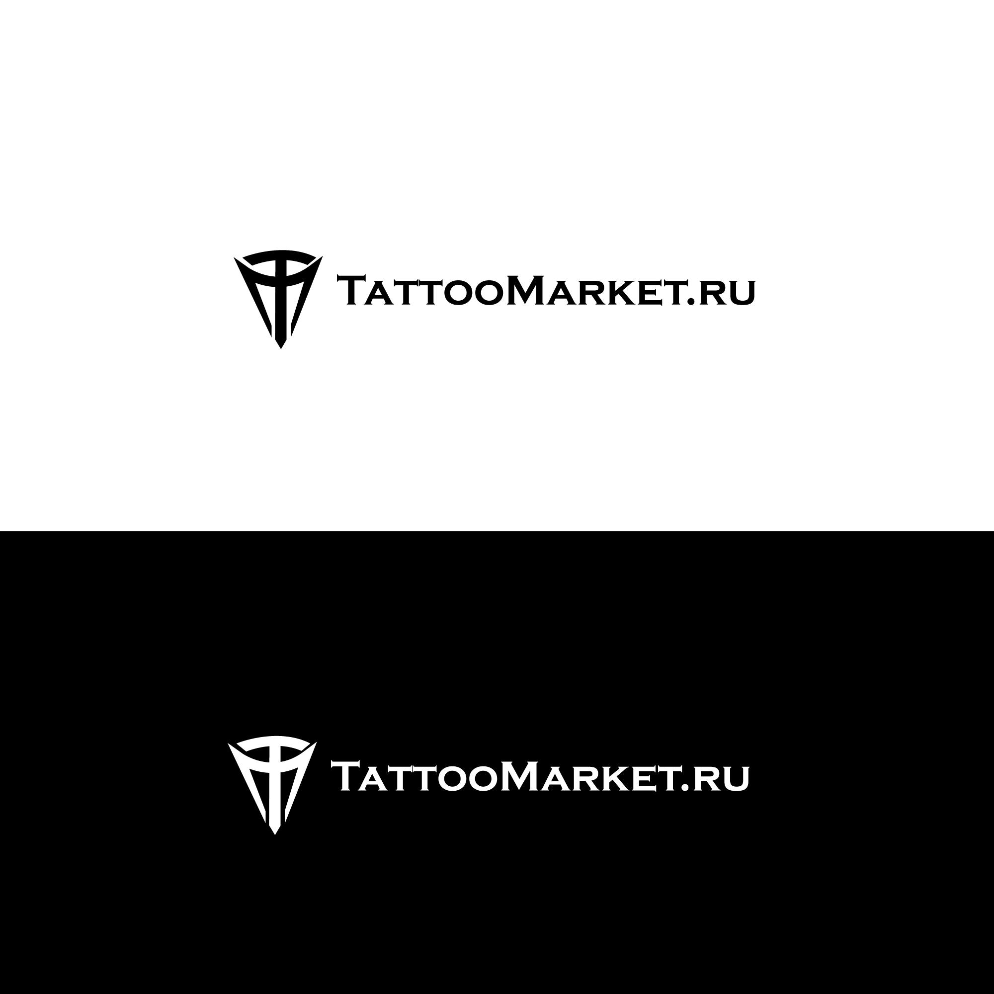 Редизайн логотипа магазина тату оборудования TattooMarket.ru фото f_7265c401c91c2bd6.jpg