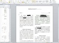 Договор о финансовом сотрудничестве на двух языках (ru/en)